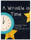 A Wrinkle In Time (Dice Discussion, Teacher Guide, Vocabulary, Writing Response)
