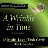 A Wrinkle in Time:  Leveled Task Cards