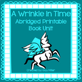 A Wrinkle in Time Abridged Novel Study: vocabulary, compre