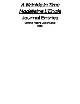 A Wrinkle in Time Adapted novel journal WIDE