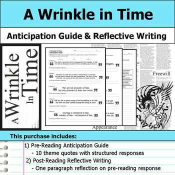 A Wrinkle in Time - Anticipation Guide & Reflection