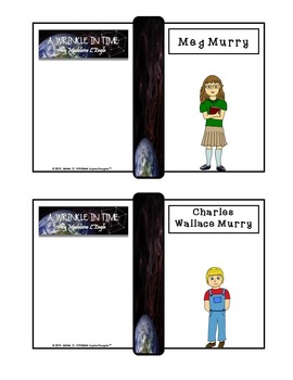A Wrinkle in Time Character Analysis Mini Fold-Ems