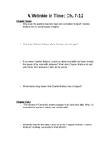 A Wrinkle in Time- Comp. Questions Ch. 7-12
