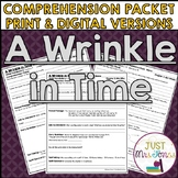 A Wrinkle in Time Comprehension Packet
