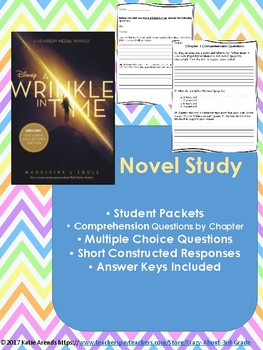 A Wrinkle in Time  Comprehension Questions