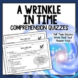 A Wrinkle in Time Comprehension Questions by Chapter