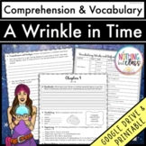 A Wrinkle in Time: Comprehension & Vocabulary by chapter