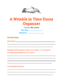 A Wrinkle in Time Essay - Graphic Organizer