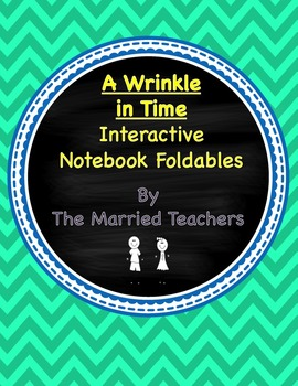A Wrinkle in Time Interactive Literature and Grammar Notebook Foldables