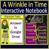 A Wrinkle in Time Interactive Notebook - Paperless for Google Classroom