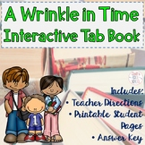 A Wrinkle in Time Novel Study Tab Book