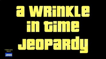 A Wrinkle in Time Jeopardy (Google Slides)