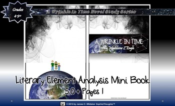 A Wrinkle in Time Literary Element Analysis Mini-Book