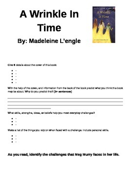 A Wrinkle in Time Literature Circles