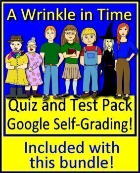 A Wrinkle in Time Novel Study Unit Use With OR Without Google Drive
