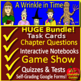 A Wrinkle in Time NOVEL STUDY Bundle SELF-GRADING GOOGLE FORMS and Game