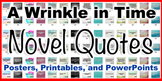 A Wrinkle in Time Novel Quotes Printable Posters
