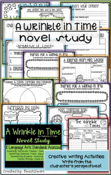 A Wrinkle in Time Novel Study - Reading Comprehension - Creative Writing