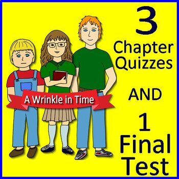 A Wrinkle in Time Novel Study Test Bundle Common Core Aligned