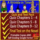 A Wrinkle in Time Test and Quiz Bundle Common Core Aligned