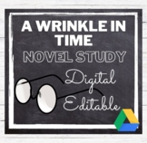 A Wrinkle in Time Novel Study Common Core Aligned: Digital or Paper : Distance