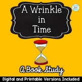 A Wrinkle in Time Novel Study Digital and Printable