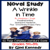 A Wrinkle in Time Novel Study & Enrichment Project Menu