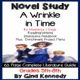 A Wrinkle in Time Novel Study & Enrichment Project Menu; Plus Digital Option
