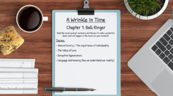 A Wrinkle in Time: Novel Study Lessons & Student Packet