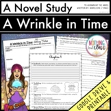 A Wrinkle in Time Novel Study Unit: comprehension, vocabulary, activities, tests