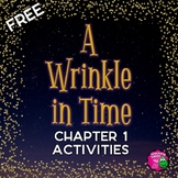 A Wrinkle in Time Novel Unit Chapter 1 FREEBIE