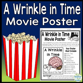 A Wrinkle in Time Project: Make a Movie Poster! {A Wrinkle in Time Book Report}