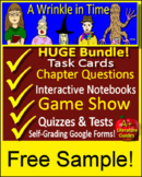 A Wrinkle in Time Free Quiz - Print AND Paperless Self-Grading CCSS Aligned