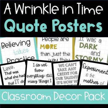 A Wrinkle in Time Quote Posters - Classroom Decor Pack
