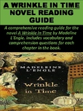 """A Wrinkle in Time"" Novel Reading Guide Packet"