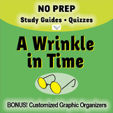 A Wrinkle in Time - SL No-Prep Study Guides and Quizzes for your Novel Study