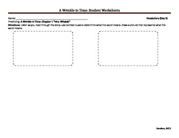A Wrinkle in Time Student Worksheets