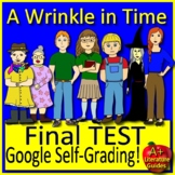 A Wrinkle in Time TEST Distance Learning: Print & GOOGLE CLASSROOM SELF-GRADING!