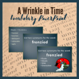 A Wrinkle in Time Vocabulary PowerPoint