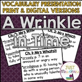 A Wrinkle in Time Vocabulary Presentation