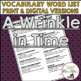 A Wrinkle in Time Vocabulary Word List