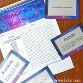 A Wrinkle in Time Word Search and Vocabulary Cards