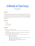 A Wrinkle in Time Writing Assignment - Character Analysis