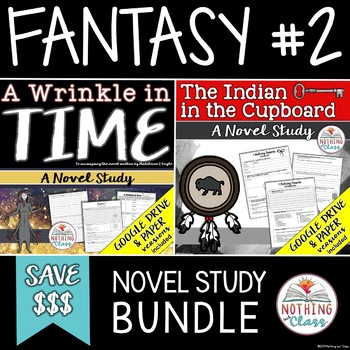A Wrinkle in Time and The Indian in the Cupboard Novel Study Unit Bundle