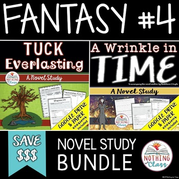 A Wrinkle in Time and Tuck Everlasting Novel Study Bundle Distance Learning
