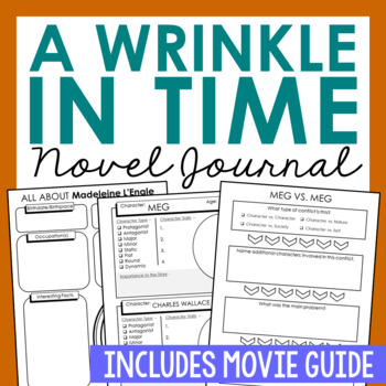 A Wrinkle in Time Interactive Notebook Novel Unit Study Activities, Book Report