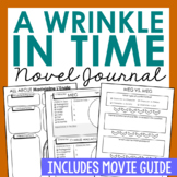 A Wrinkle in Time Novel Unit Study, Interactive Notebook a
