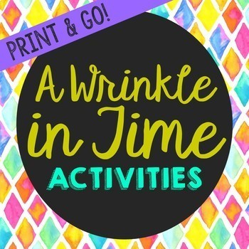 A Wrinkle in Time Novel Unit Study Activities, Book Companion Worksheets