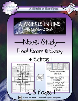 A Wrinkle in Time by Madeleine L'Engle Final Exam