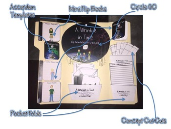 A Wrinkle in Time by Madeleine L'Engle Interactive Lap Book